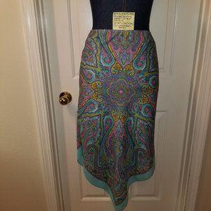 #913 NWOT Rona Handkerchief Mandala Paisley Blue T
